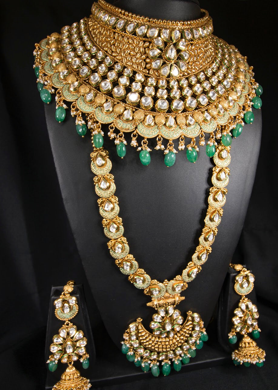 Afreen kundan Maharani  Bridal Set