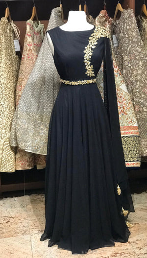 Black Bridesmaid Anarkali
