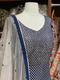 Navy Blue XXL Anarkali PWA- 016