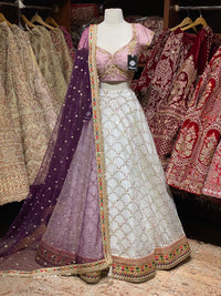 Macaroon Cream Size 38 Party Wear Lehenga