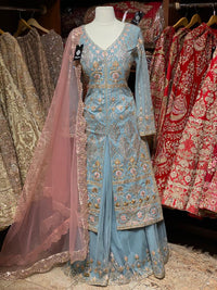 Baby Blue Party Wear Suit Collection PWS-019