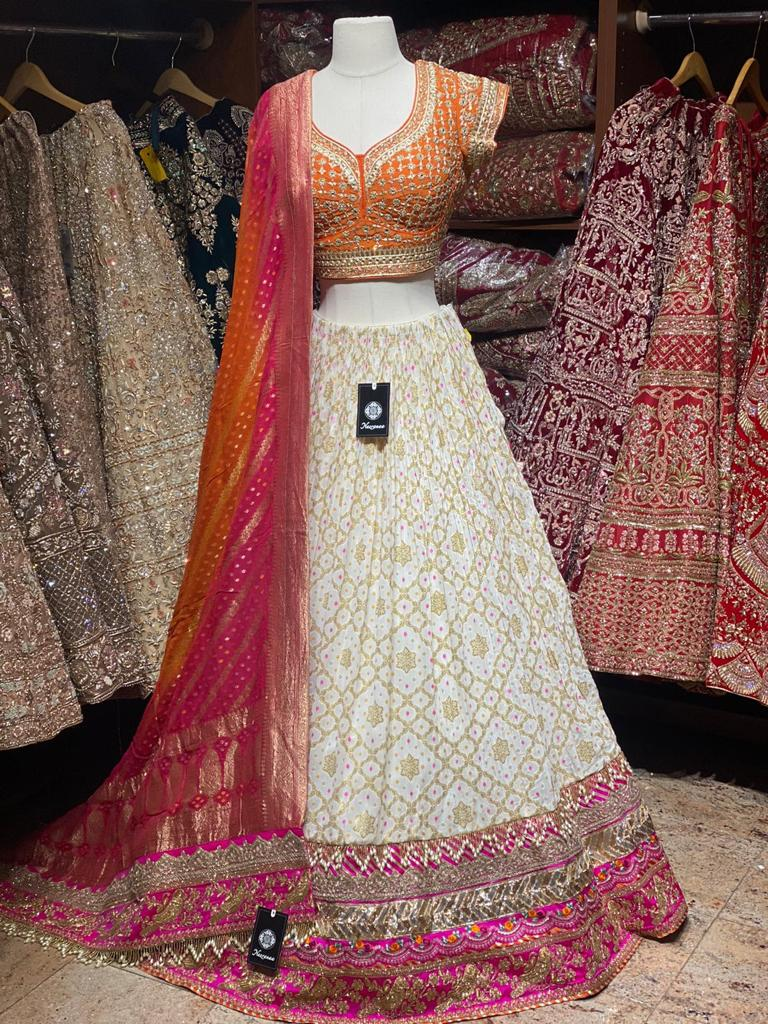 Vista White Party Wear Lehenga PWL-047