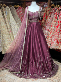 Plum Size 38 Anarkali Collection
