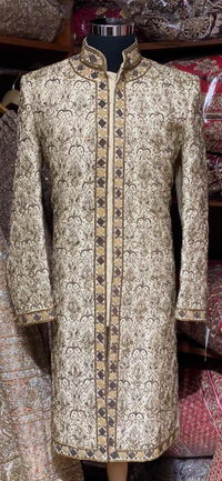Majestic Gold Groom's Size 40 Sherwani