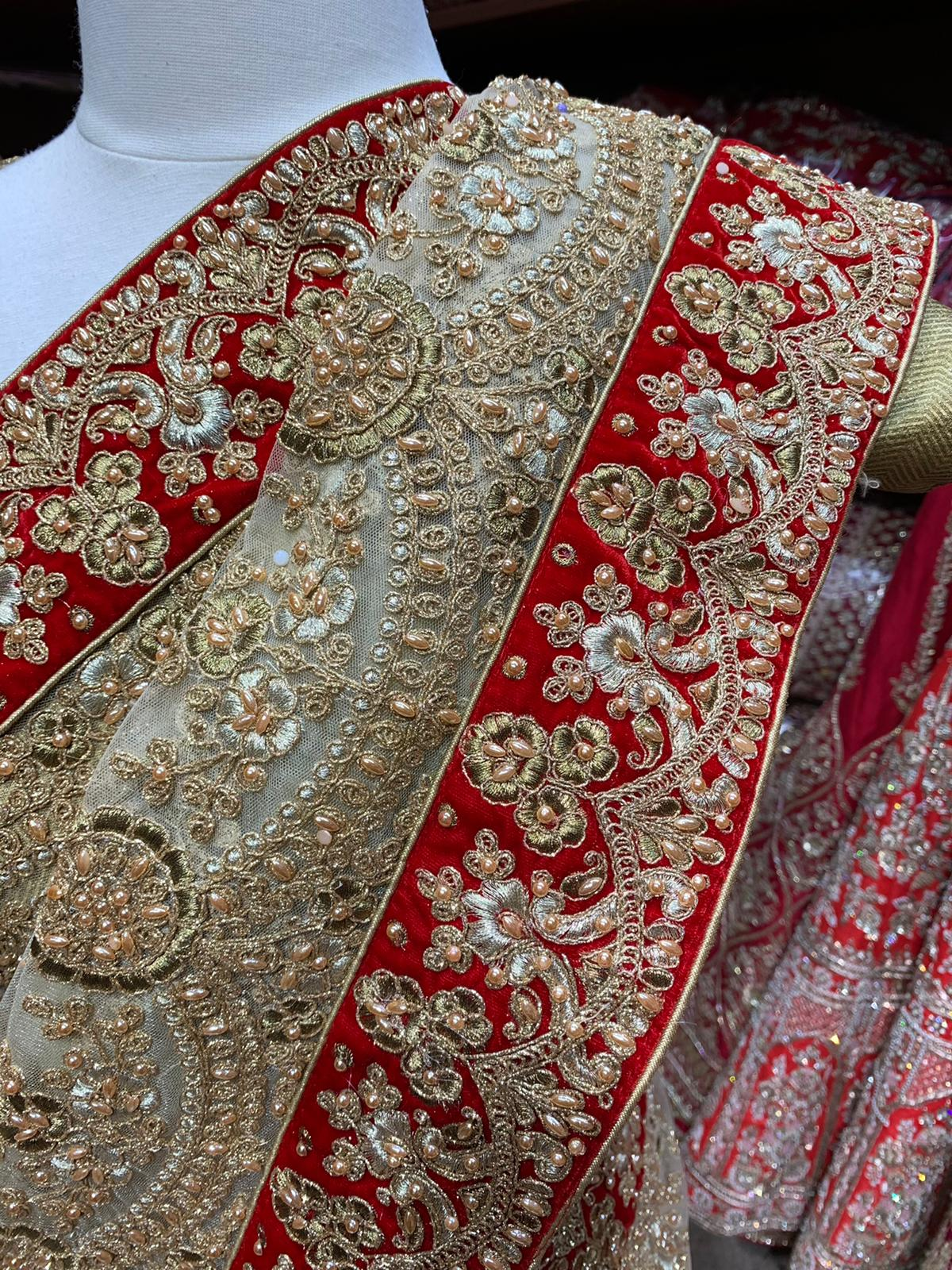 Gold & Red Saree PWS-078