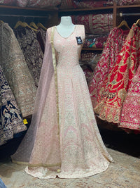 Rose Pink Anarkali PWA-027