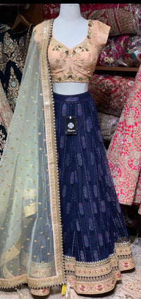 Space Blue Party Wear Lehenga PWL-082