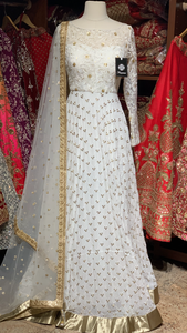 White Size 38 Lace Anarkali