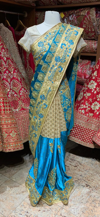 Azure Blue Saree PWS-050