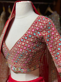 Venetian Red Bridal Wear Lehenga BWL-064