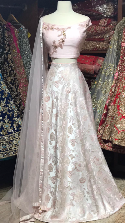 The Raspberry Lehenga-PW27