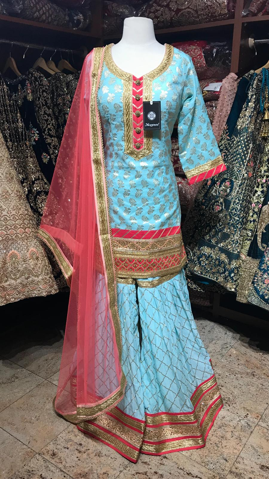 Brocade XL Gharara Suit