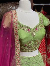 Shamrock Green Party Wear Lehenga PWL-022