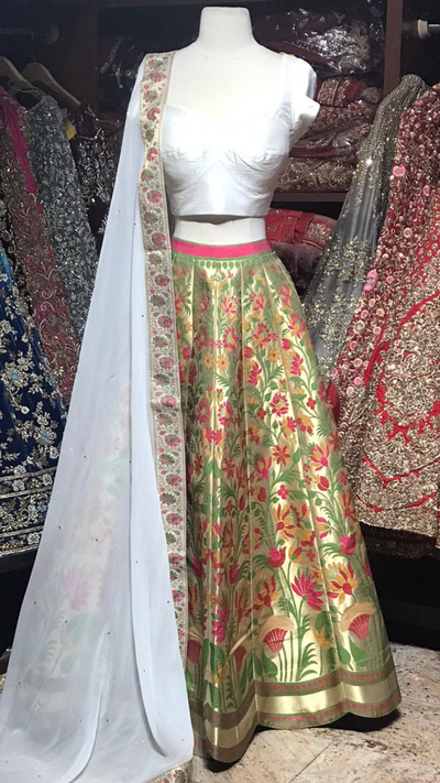 The Boho Chick Lehenga-PW36