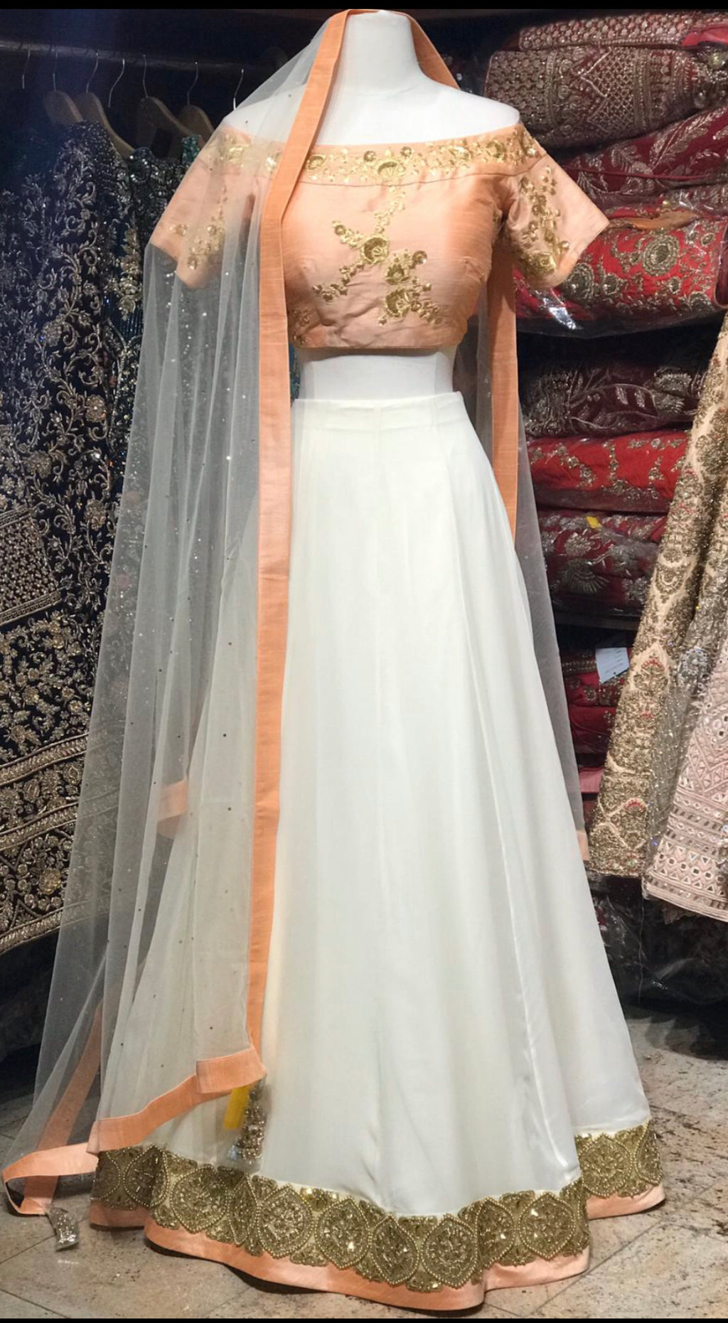 Peach and Blush Bridesmaid Lehenga