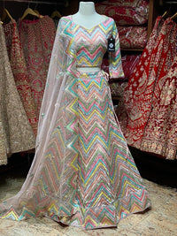 Stunning Multicolored Party Wear Lehenga PWL-085