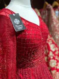Dazzling Ruby Red Gown PWG-011