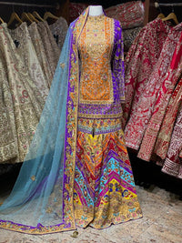 Multicolor Gharara Party Wear Suit Collection PWS-002
