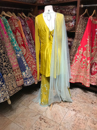 Yellow Mint XL Palazzo Suit