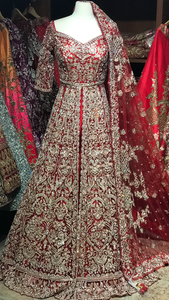 Red Size 38 Bridal Lacha