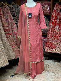 Coral Pink Party Wear Suit Collection PWS-036