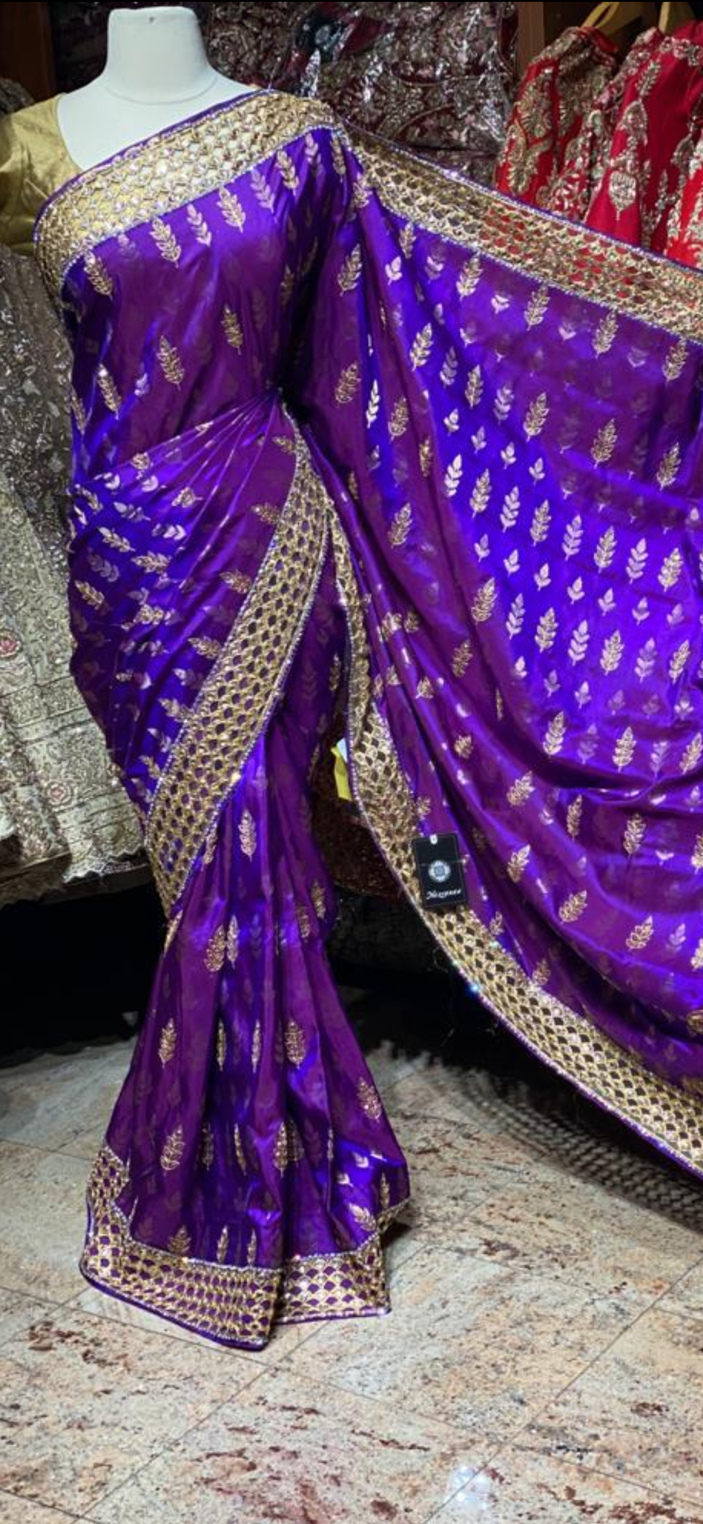 Dark Purple Pure Silk Kanjeevaram Saree PSK-04