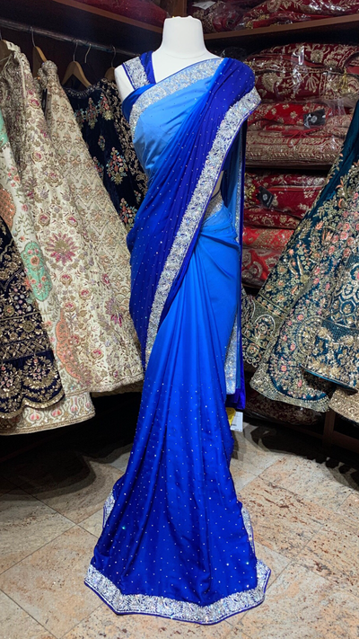 Ombre Blue Saree