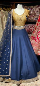 Navy Blue Bridesmaids Lehenga BML-014