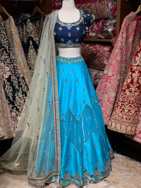 Maya Blue  Party Wear Lehenga PWL-074