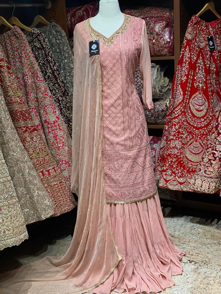 Exclusive Beautiful Colours in Lucknowi Party Wear Suit Collection PWS-037
