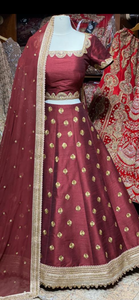Claret Red Bridesmaids Lehenga BML-026