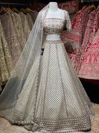 Gold Bridal Wear Lehenga PWL-011