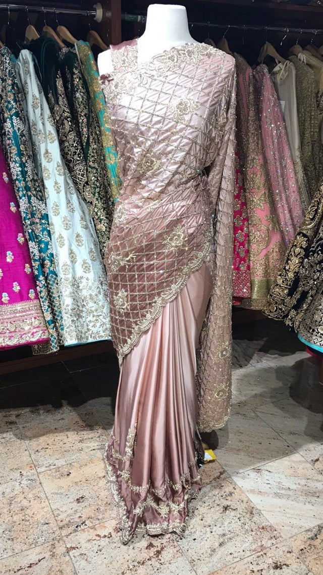 Ombre Satin Saree