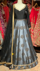 Black Grey Size 38 Anarkali