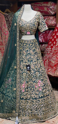 Midnight Green Bridal Wear Lehenga BWL- 099