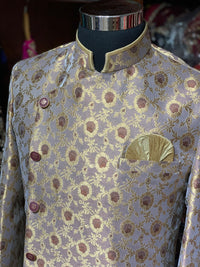 Purple Brocade Sherwani