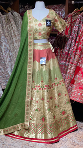 Mellow Gold Banarasi Party Wear Lehenga PWL-013