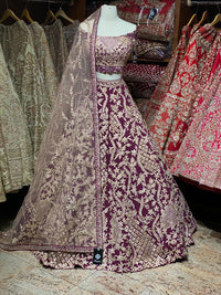 Wine Purple Bridal Wear Lehenga BWL-061