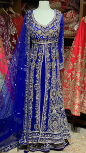 Royal Blue Size 38 Bridal Lacha