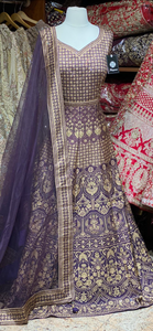 Indigo Purple XXL Anarkali PWA-009