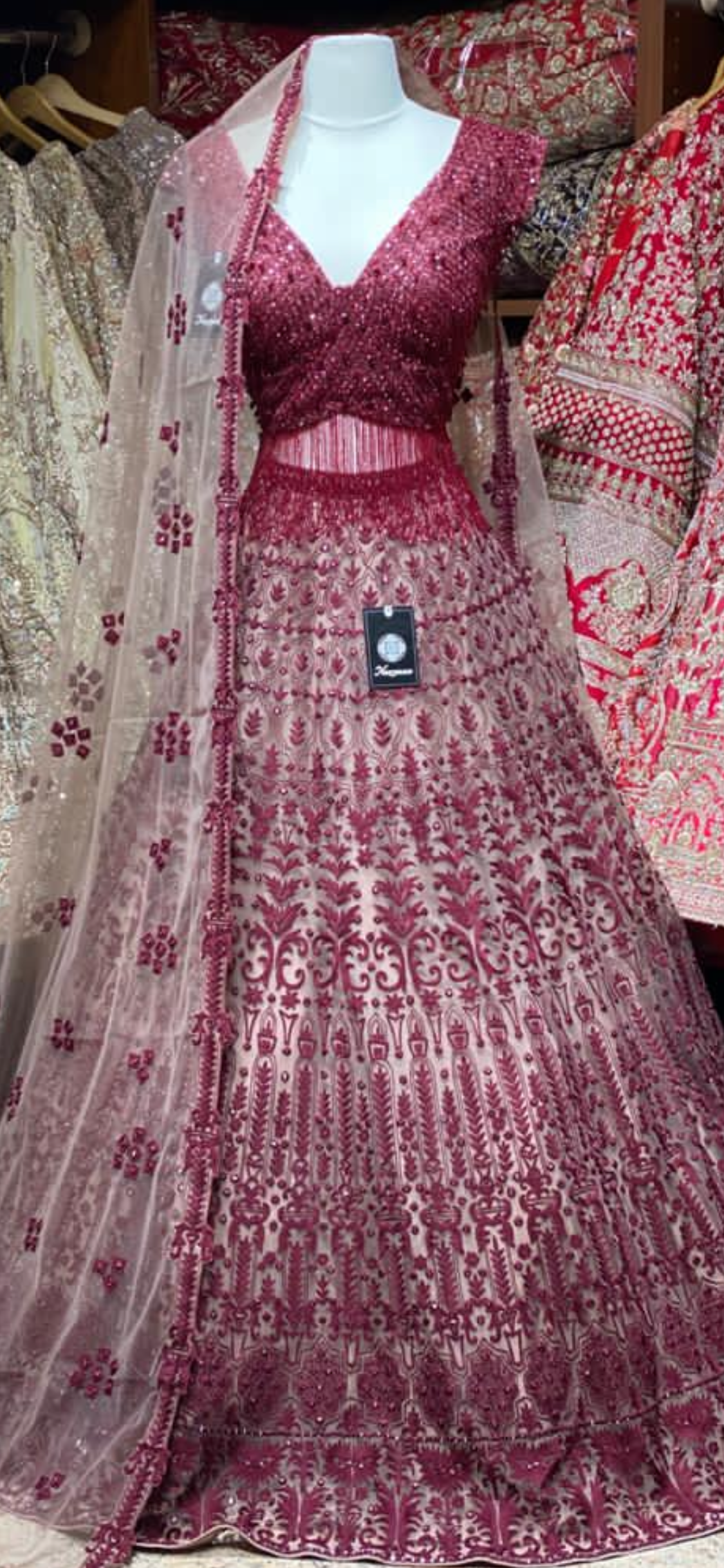 Berry Red Bridal Wear Lehenga BWL-015