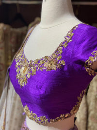 Iris Purple Party Wear Lehenga PWL- 042