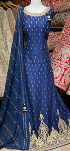 Navy Blue XXL Anarkali PWA-005