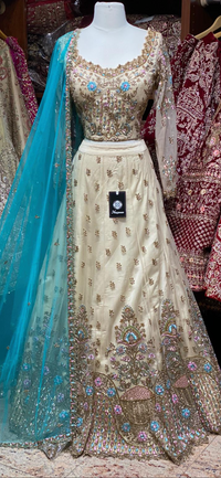 Golden Straw Size 38  Party Wear Lehenga