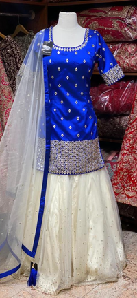 Royal Blue Party Wear Suit Collection PWS-023