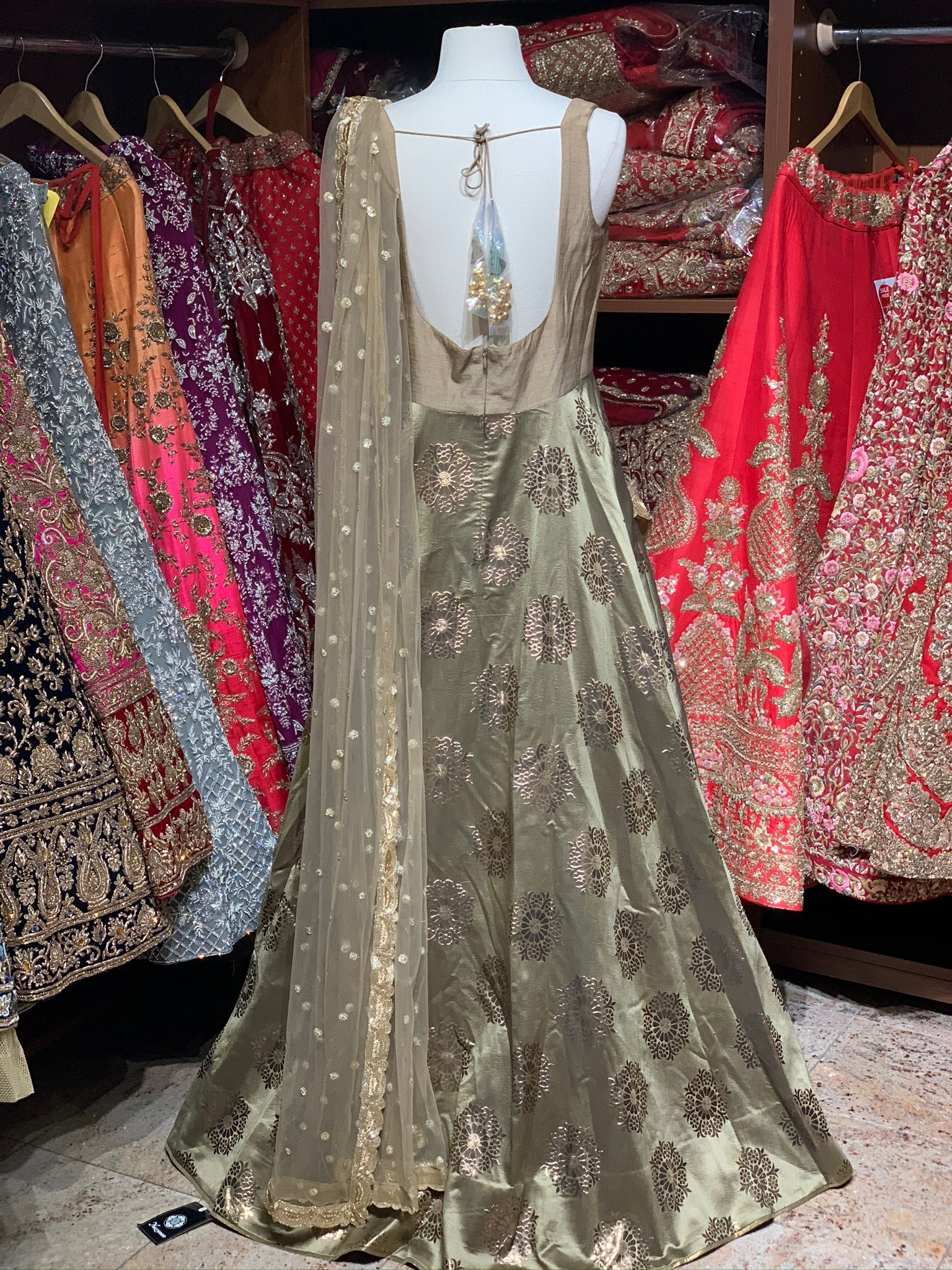 Gold Size 38 Anarkali