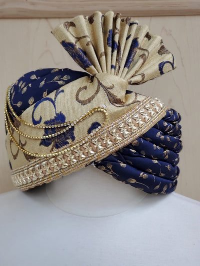 Navy Gold Safa