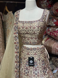 Beige Party Wear Lehenga PWL-052