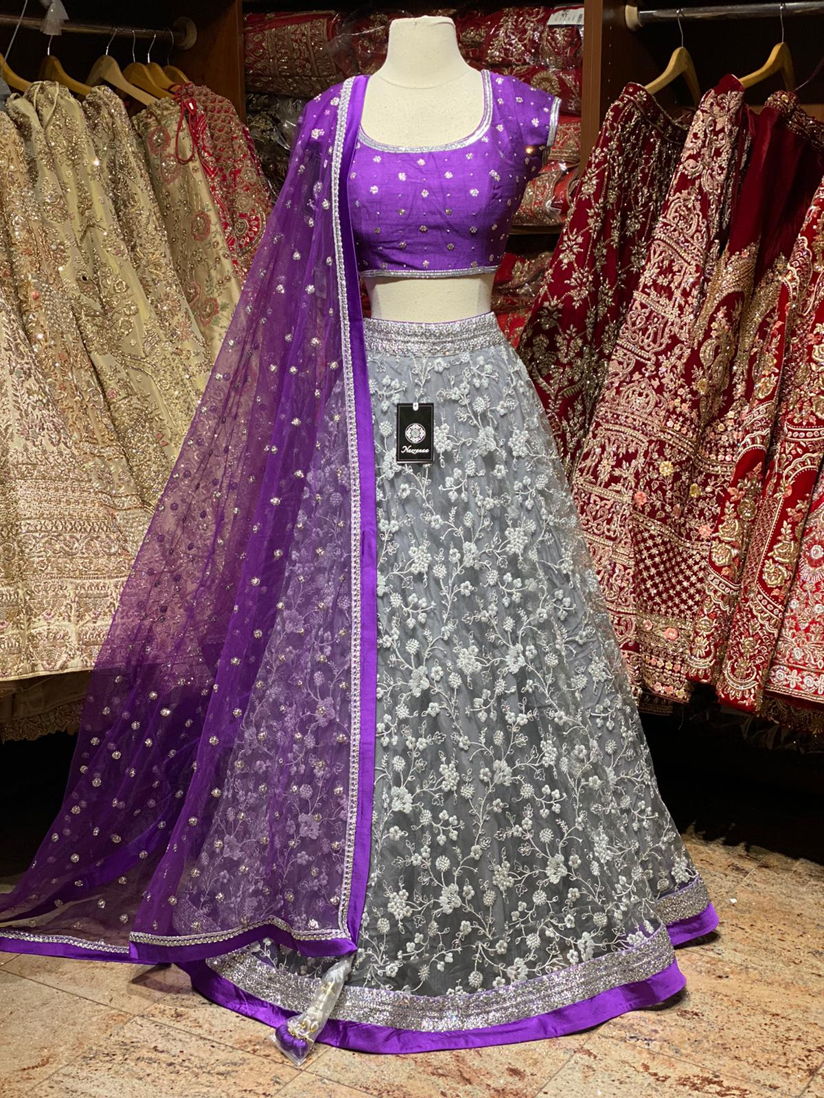 Koala Grey Size 38 Party Wear Lehenga