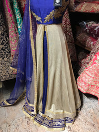 Navy Gold Size 38 Embroidered Lacha